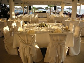 Adams Beach - Vala Wedding Set up