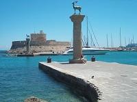 Rhodos - přístav Mandraki