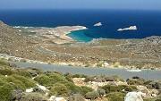 Pohled na vesnici Xerokambos na jihovýchodní Krétě