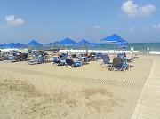 Pláž na severní Krétě u letoviska Chania