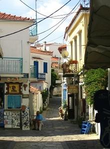 Ulička ve městečku Skiathos