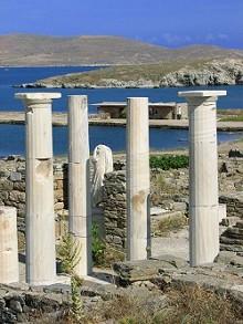Archeologické naleziště Delos u ostrova Mykonos