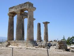 Peloponés - vykopávky Korinth