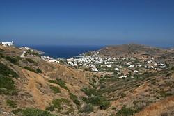 Syros - pohled na středisko Kini