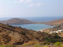 Pláž Delfini na ostrově Syros